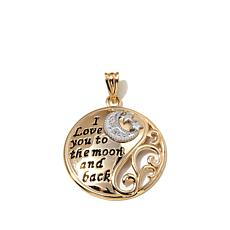 "Michael Anthony 10K Gold ""To the Moon and Back"" Pendant"