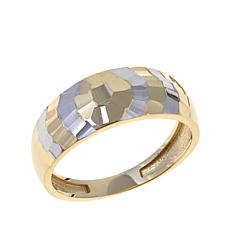 Michael Anthony Jewelry® 10K 2-Tone Hammered Band Ring