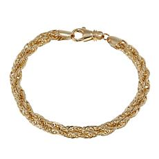 "Michael Anthony Jewelry® 10K 6mm Rope Chain 7-1/2"" Bracelet"