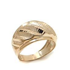 Michael Anthony Jewelry® 10K Diamond-Cut Band Ring