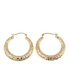 Michael Anthony Jewelry® 10K Diamond-Cut Hoop Earrings