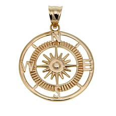 Michael Anthony Jewelry® 10K Polished Compass Pendant