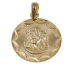Michael Anthony Jewelry® 10K Round Christ Head Pendant
