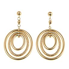 Michael Anthony Jewelry® 10K Triple Oval Dangle Earrings