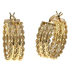 Michael Anthony Jewelry® 10K Triple Rope Hoop Earrings