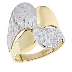 Michael Anthony Jewelry® 10K Two-Tone Diamond-Cut Bypass Ring