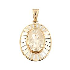Michael Anthony Jewelry® 10K Virgin Mary Oval Pendant