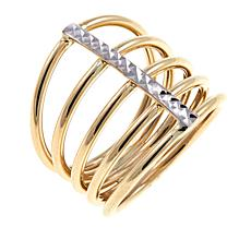 Michael Anthony Jewelry® 10K Yellow Gold 2-Tone 5-Row Band Ring