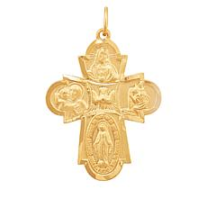 Michael Anthony Jewelry® 14K 4-Way Medal Cross Pendant