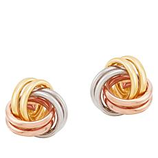 Michael Anthony Jewelry® 14K Tri-Color Love Knot Stud Earrings