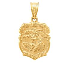 Michael Anthony Jewelry® 14K Yellow Gold St. Michael Shield Pendant