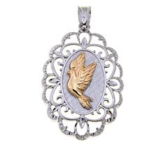 Michael Anthony Jewelry® 2-Tone Flying Dove Pendant
