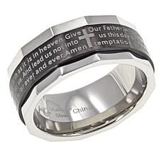 Michael Anthony Jewelry® 2-Tone Lord's Prayer Spinner Ring