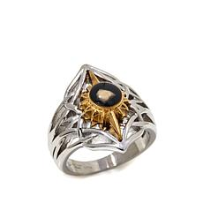 Michael Anthony Jewelry 2-Tone Nativity Stone Ring
