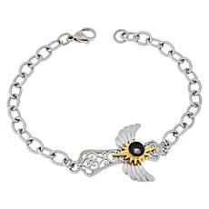Michael Anthony Jewelry® Nativity Stone Angel Wing Cross Bracelet