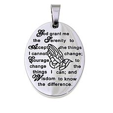 Michael Anthony Jewelry® Oval Serenity Prayer Pendant