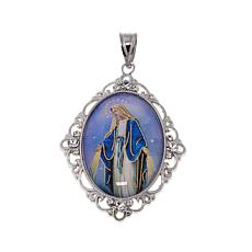 Michael Anthony Jewelry® Sterling Silver Hail Mary Prayer Pendant