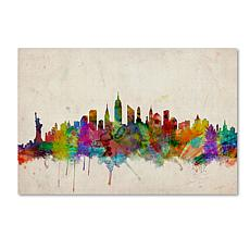 "Michael Tompsett ""New York Skyline"" Art - 30"" x 47"""