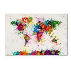 Michael Tompsett 'Paint Splashes World Map' Print