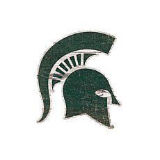 Michigan State  Distressed Logo Cutout Sign
