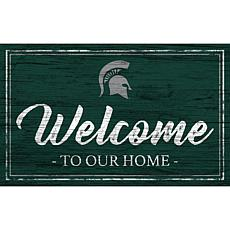 """Michigan State University Team Color Welcome Sign - 11x19"""""""