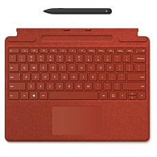 Microsoft Surface Pro X Keyboard and Slim Pen Bundle - Poppy Red