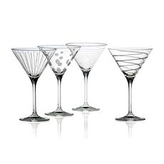 "Mikasa ""Cheers"" Martini Glasses - Set of 4"