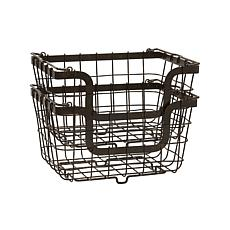 Mikasa Gourmet Basics Set of 2 Stacking Organization Baskets