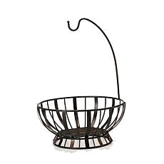 Mikasa Gourmet Basics Stripe Fruit Basket w/Banana Hook