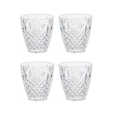 Mikasa Harding Double Old Fashioned Glass Set of 4