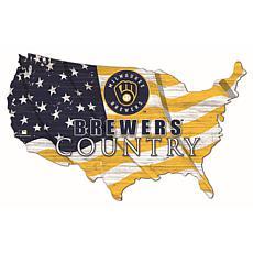 Milwaukee Brewers USA Shape Flag Cutout