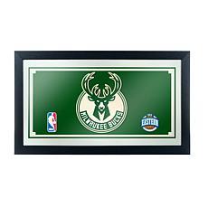 Milwaukee Bucks NBA Framed Logo Mirror