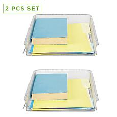 Mind Reader 2-Piece Stackable Letter Tray