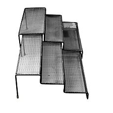Mind Reader 3-Tier Metal Mesh Multi-Purpose Kitchen Organizer, Silver