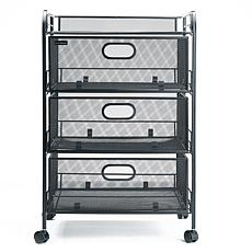 Mind Reader 4-Drawer Rolling Mesh Office Storage Cart
