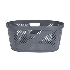 Mind Reader 40-Liter Laundry Storage Basket - White