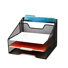 Mind Reader 5-Compartment Mesh Paper Organizer