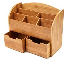 Mind Reader 6-Compartment Bamboo Desk Organizer