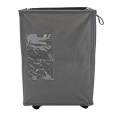 Mind Reader 65-Liter Rolling Fabric Laundry Hamper