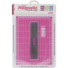 Mini Magnetic Cutting Mat and Ruler Set