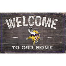 Minnesota Vikings 11x19 Welcome to our Home Sign