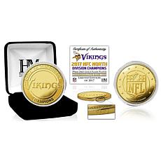 Minnesota Vikings 2017 NFC North Division Champions Gold Mint Coin