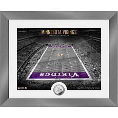 Minnesota Vikings Art Deco Stadium Silver Coin Photo Mint