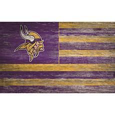 Minnesota Vikings Distressed Flag 11x19