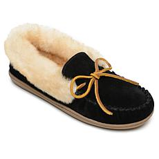Minnetonka Alpine Suede Sheepskin Slipper