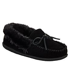 Minnetonka Camp Collar Moc Suede Slipper