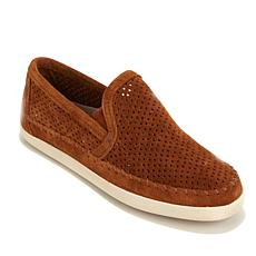 Minnetonka Pacific Perforated Suede Slip-On