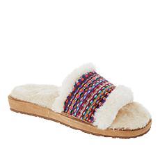 Minnetonka Pansy Faux Fur Lined Slide Slipper