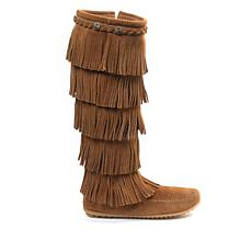 Minnetonka Suede 5-Layer Fringe Tall Boot