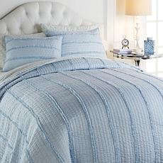 Minnie Driver Chambray 3-piece Quilt Set